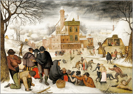 Pieter Brueghel d.Ä. - Winterlandscape with skaters