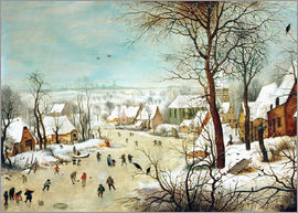 Pieter Brueghel d.Ä. - Winter Landscape with Birdtrap
