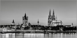 Michael Valjak - Magnificent Cologne, black and white, 16:9