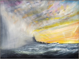 Vincent Alexander Booth - Yamato Emerges from Pacific Typhoon