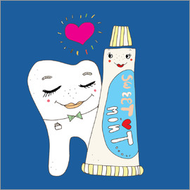 Little Miss Arty - - tooth monster with toothpaste - for bad