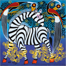 Noel - Zebra with herons