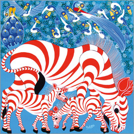 Mustapha - Zebras in red