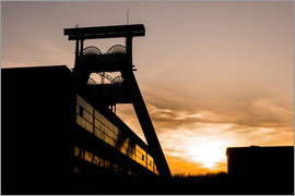 Daniel Heine - Colliery in Sunset