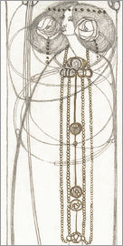 Charles Rennie Mackintosh - Drawing for a New Year's Card