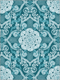 Micklyn Le Feuvre - Centered Lace in Sea Green Teal