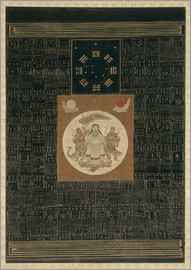 Chinese School - Zhenwu with the Eight Trigrams, the Northern Dipper, and Talismans, Qing dynasty