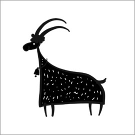 Kidz Collection - Billy goat black and white