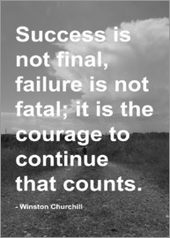 Finlay and Noa - Success Motivational Quote Winston Churchill