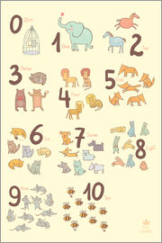Petit Griffin - Zoological numbers for nursery