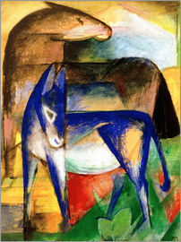 Franz Marc - Two blue donkeys