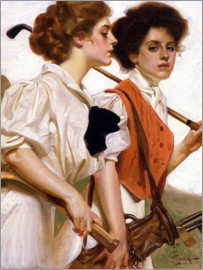 Joseph Christian Leyendecker - Two ladies playing golf