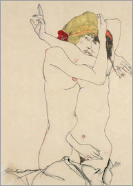 Egon Schiele - Two Friends