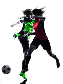 two soccer players