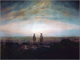 Caspar David Friedrich - Two men at the sea