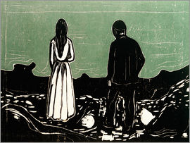 Edvard Munch - Two People (The Lonely Ones)