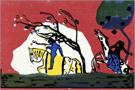 Wassily Kandinsky - Two riders from red