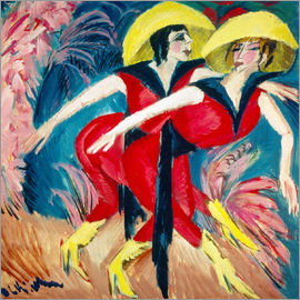 Ernst Ludwig Kirchner - Two red dancers