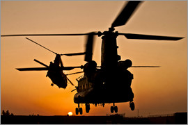 Stocktrek Images - Two Royal Air Force CH-47 Chinooks