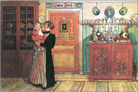 Carl Larsson - Between Christmas and New Year