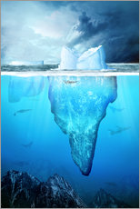 Wall sticker  Antarctic iceberg underwater - Kalle60