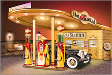 Wall Stickers  nostalgic gas station, american style - Kalle60