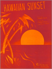 Premium poster  Hawaiian sunset - Entertainment Collection
