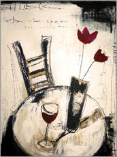 Wall sticker  A glass of wine - Christin Lamade