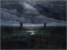 Gallery print  Sea Shore in Moonlight - Caspar David Friedrich