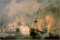 Premium poster  The Battle of Navarino - Ivan Konstantinovich Aivazovsky