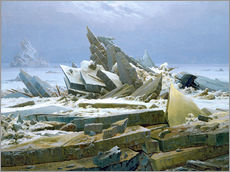 Gallery print  The Polar Sea - Caspar David Friedrich