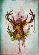 Wall Stickers  Oh Deer, is that the time? - Sybille Sterk