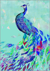 Gallery print  Peacock Collage - GreenNest