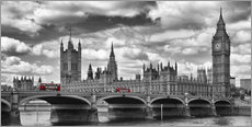 Gallery print  LONDON Westminster Bridge Panoramic - Melanie Viola