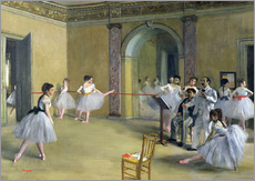Edgar Degas - The Dance Foyer at the Opera on the rue Le Peletier