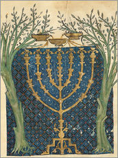 Wall sticker  Illumination of a menorah - Joseph Asarfati