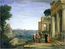 Wall sticker  Aeneas and Dido in Carthage - Claude Lorrain