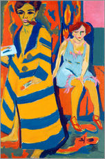 Wall sticker Ernst Ludwig Kirchner with a Model