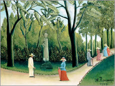Gallery Print  The Monument to Chopin in the Luxembourg Gardens - Henri Rousseau