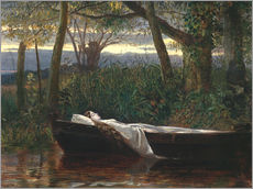 Gallery Print  The Lady of Shalott - Walter Crane