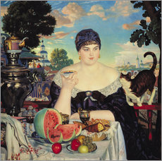 Gallery Print  The Merchant's Wife at Tea - Boris Mihajlovic Kustodiev