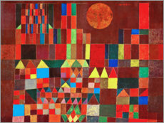 Aluminium print  Castle and Sun - Paul Klee