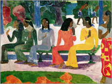 Acrylic print  On the market - Paul Gauguin