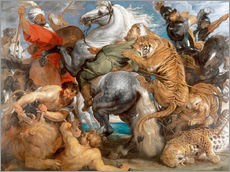 Gallery print  The Tiger Hunt - Peter Paul Rubens