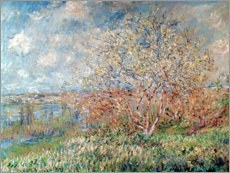 Wood print  Springtime - Claude Monet