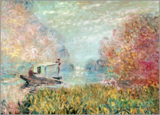 Canvas print  The Boat Studio on the Seine - Claude Monet
