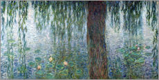 Wall Stickers  Waterlilies: Morning with Weeping Willows (detail)  - Claude Monet