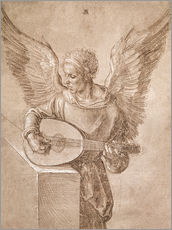 Albrecht Dürer - Angel playing a lute