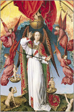 Wall sticker  Last Judgment, St. Michael, Weighing Souls - Rogier van der Weyden
