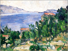 Gallery print  View of Mount Marseilleveyre and the Isle of Maire - Paul Cézanne